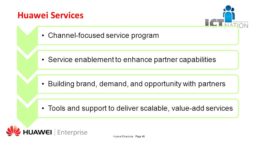 Huawei Services Channel-focused service program