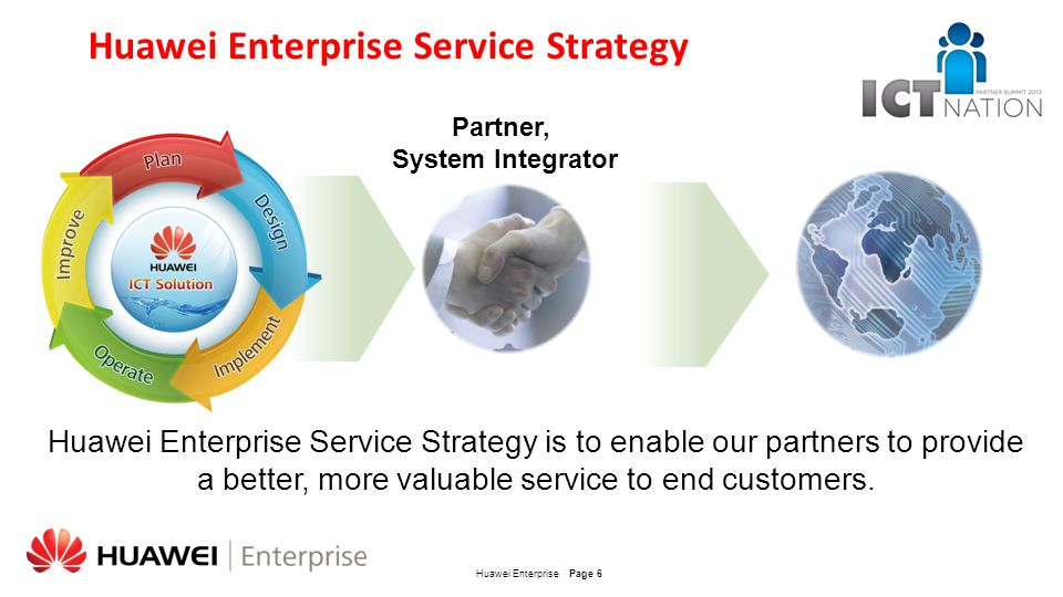 Huawei Enterprise Service Strategy
