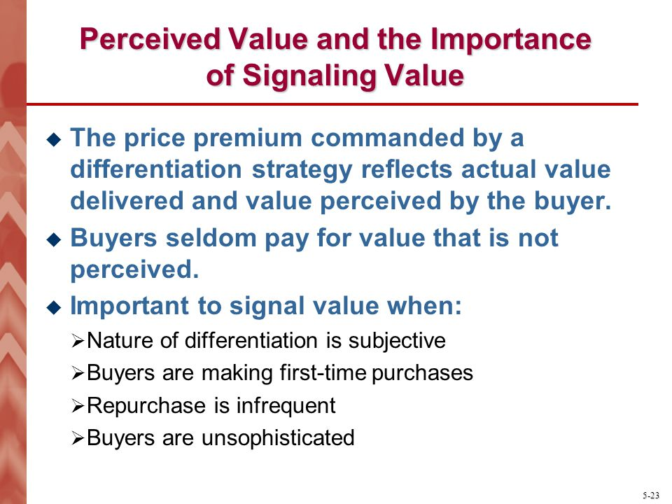 Perceived Value and the Importance of Signaling Value