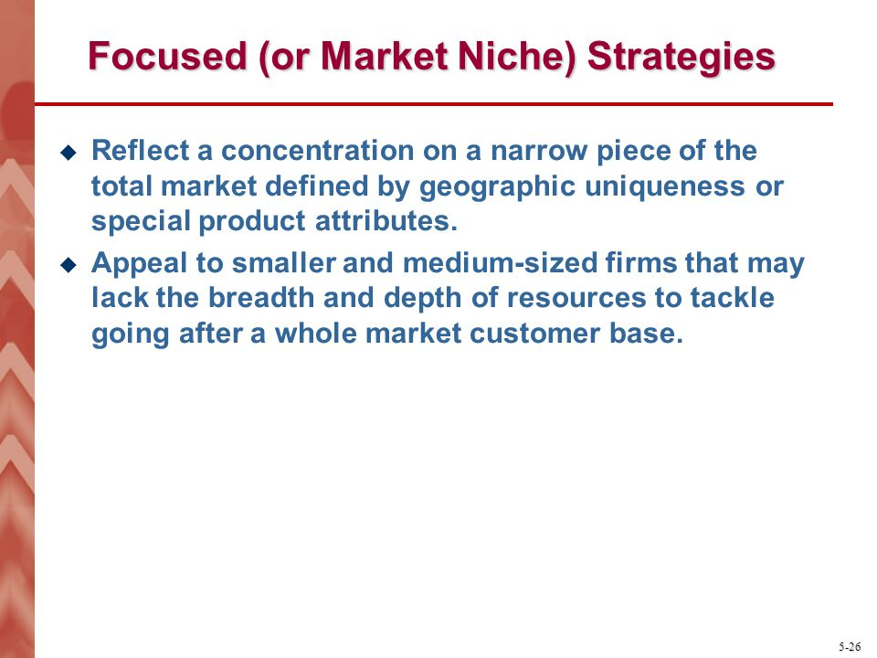 Focused (or Market Niche) Strategies