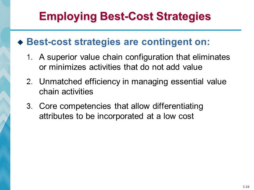 Employing Best-Cost Strategies