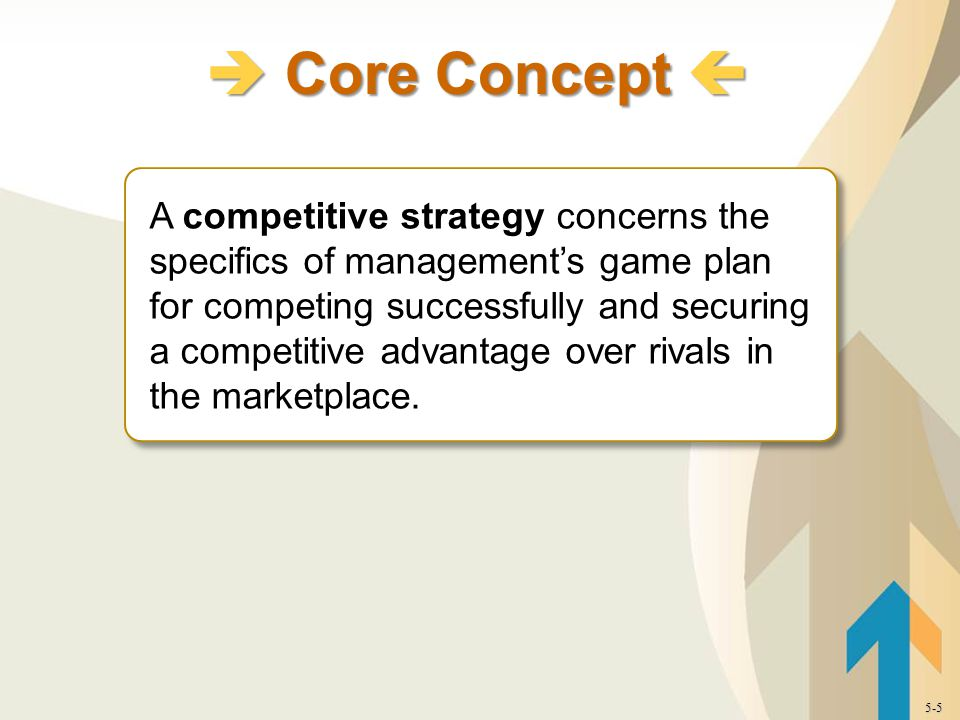 A competitive strategy concerns the specifics of management's game plan for competing successfully and securing a competitive advantage over rivals in the marketplace.