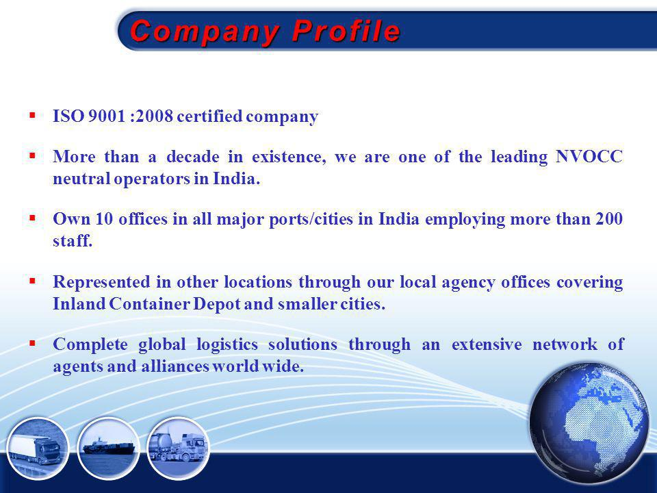 Company Profile ISO 9001 :2008 certified company