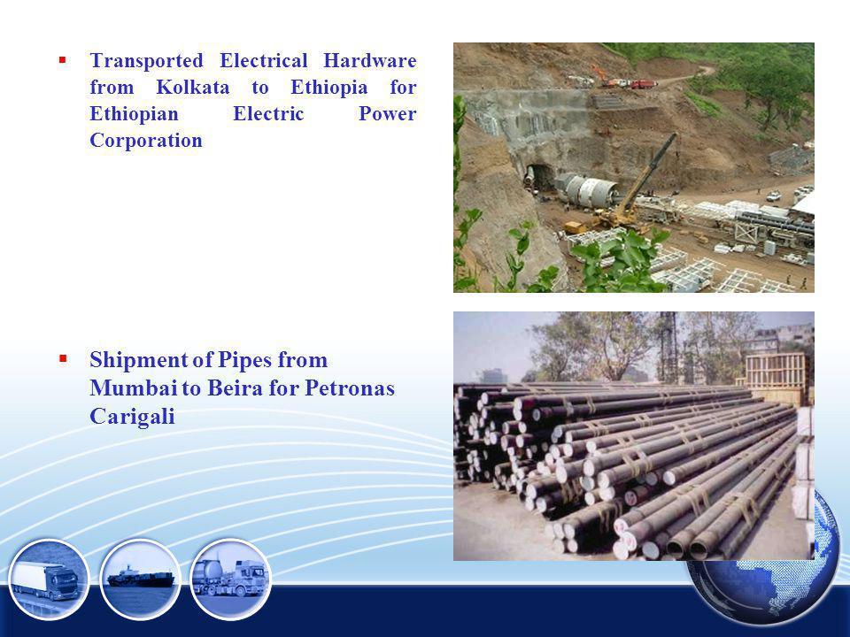 Shipment of Pipes from Mumbai to Beira for Petronas Carigali