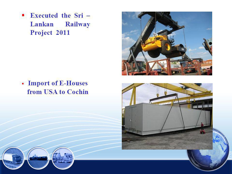 Import of E-Houses from USA to Cochin