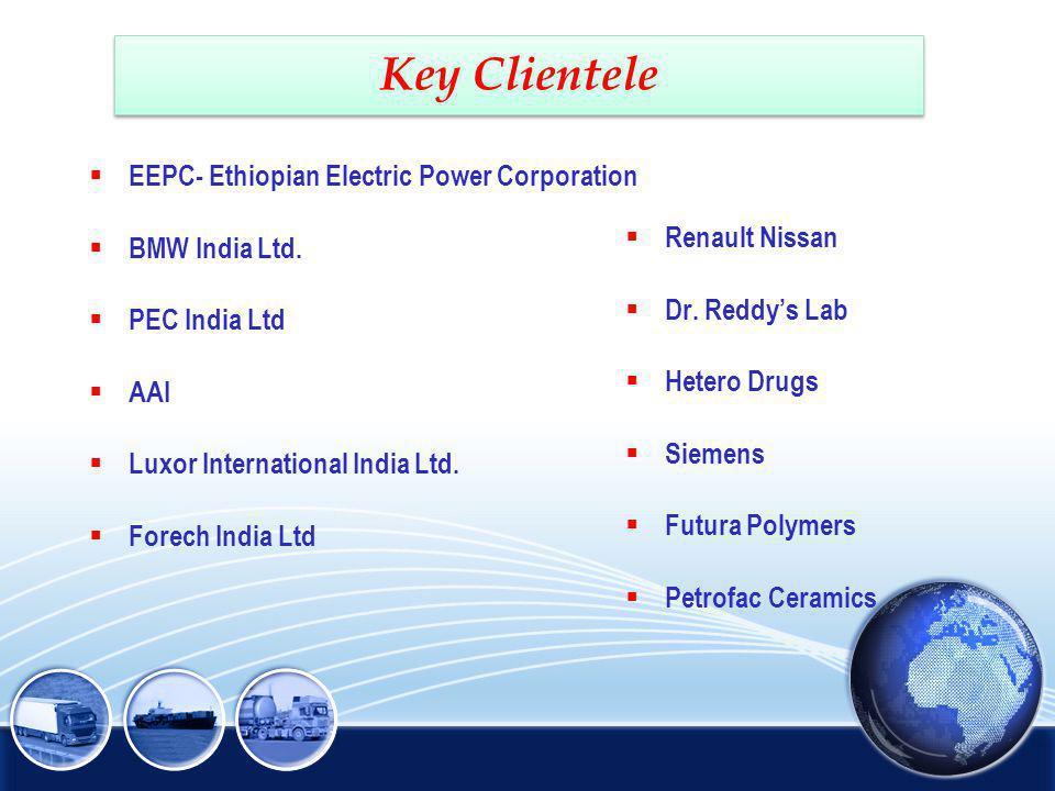 Key Clientele EEPC- Ethiopian Electric Power Corporation