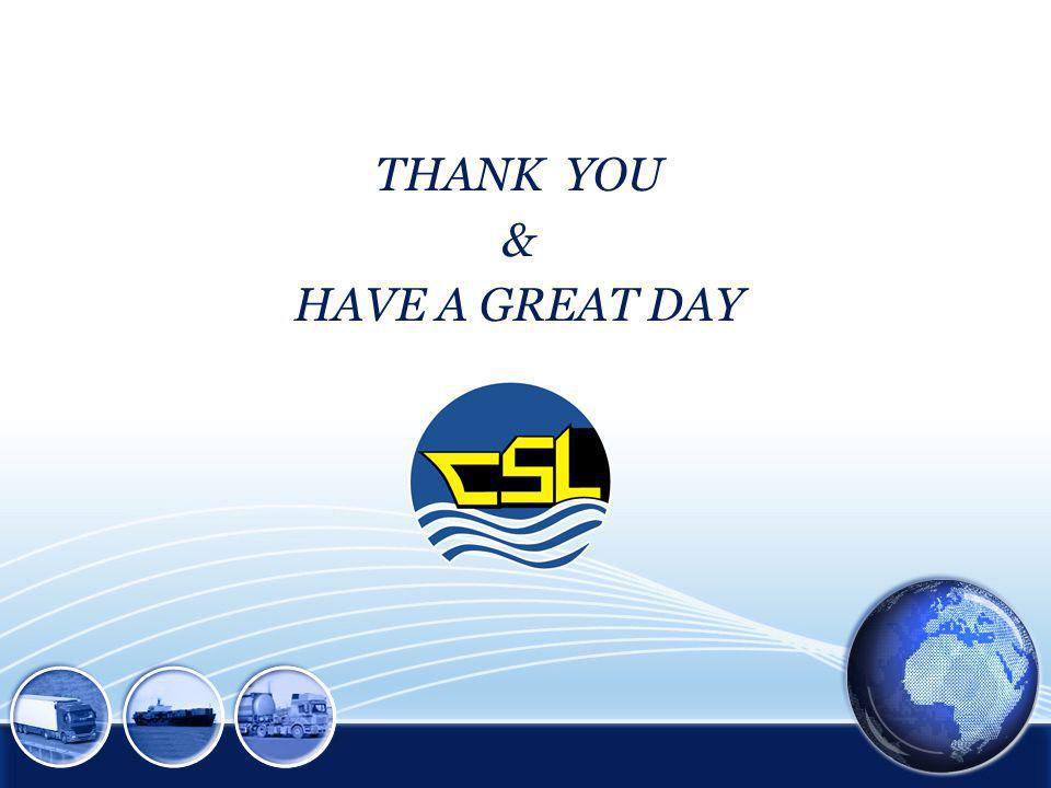 THANK YOU & HAVE A GREAT DAY