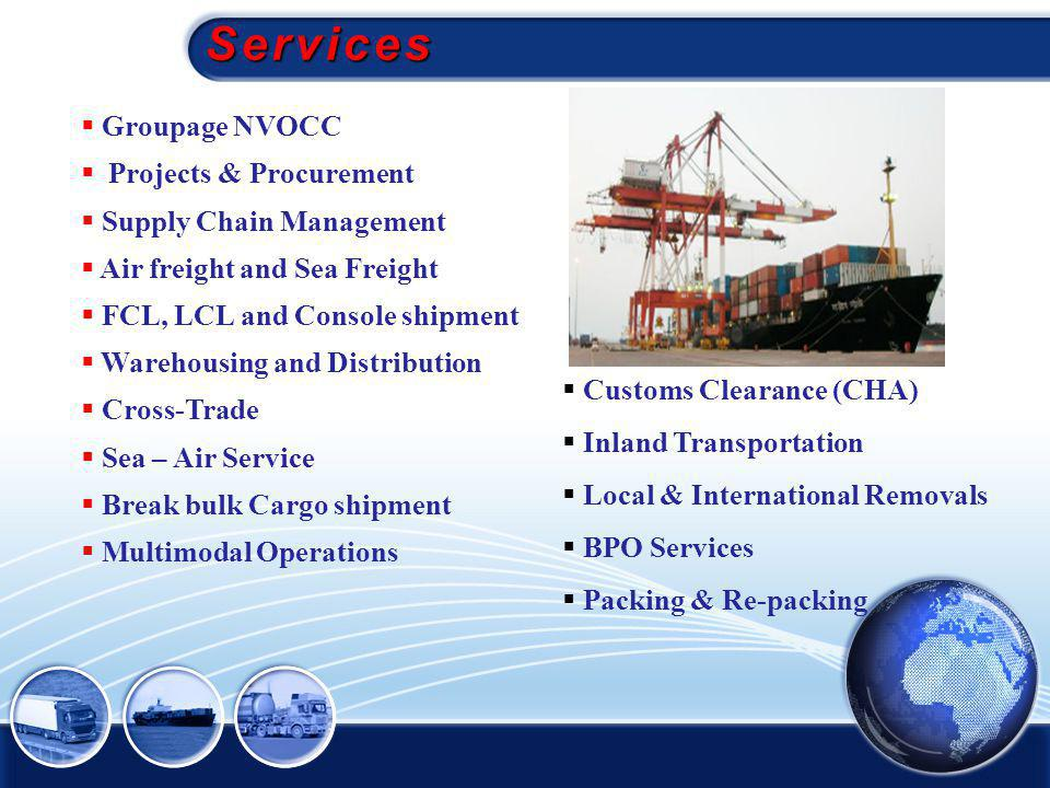 Services Groupage NVOCC Projects & Procurement Supply Chain Management