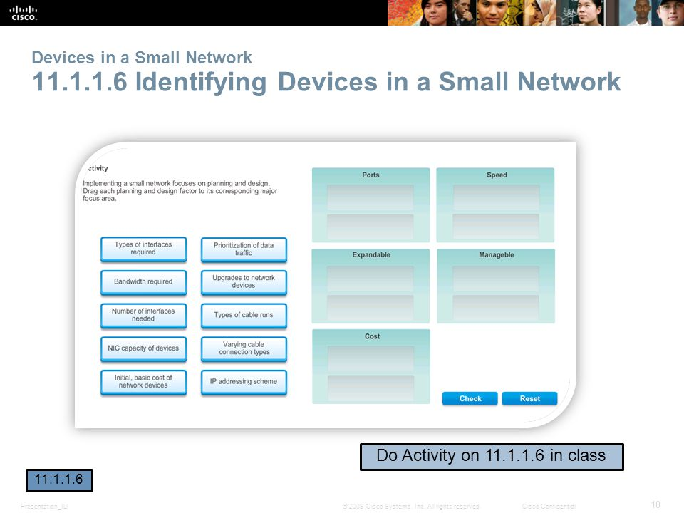 Devices in a Small Network 11. 1. 1