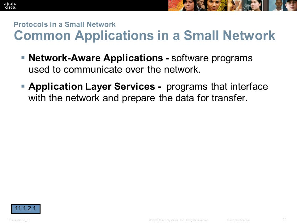 Protocols in a Small Network Common Applications in a Small Network