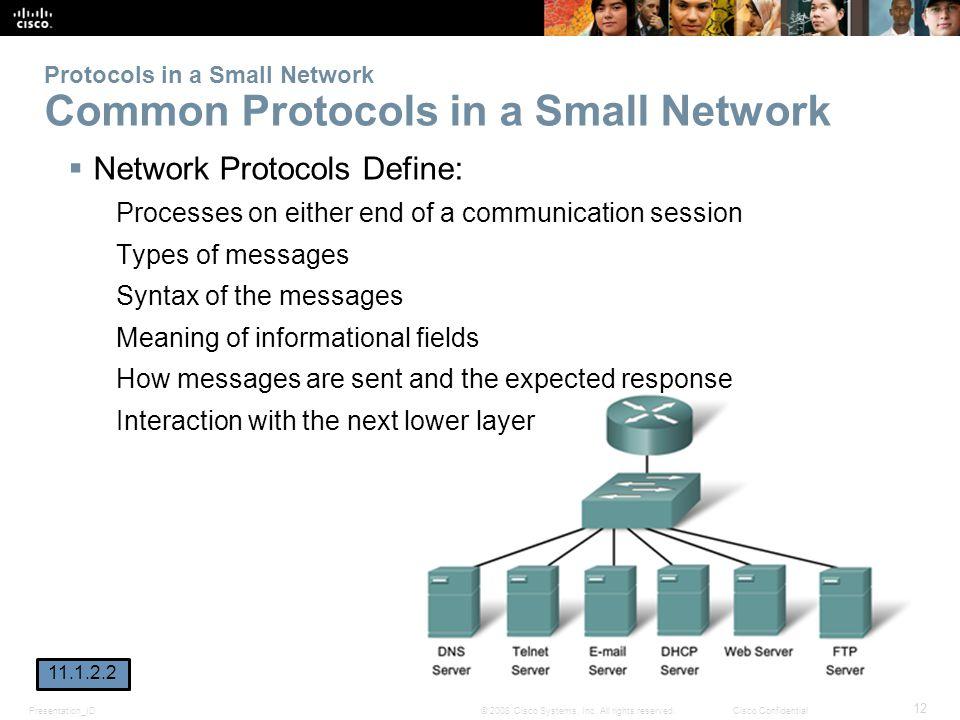 Protocols in a Small Network Common Protocols in a Small Network