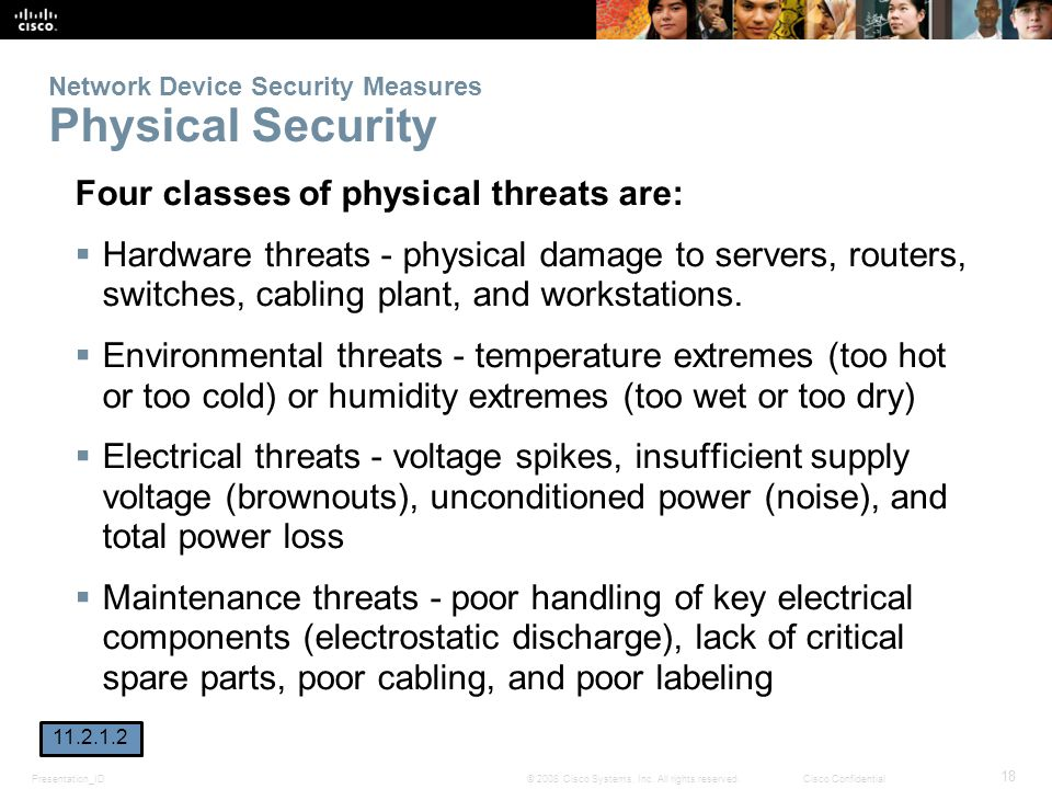 Network Device Security Measures Physical Security