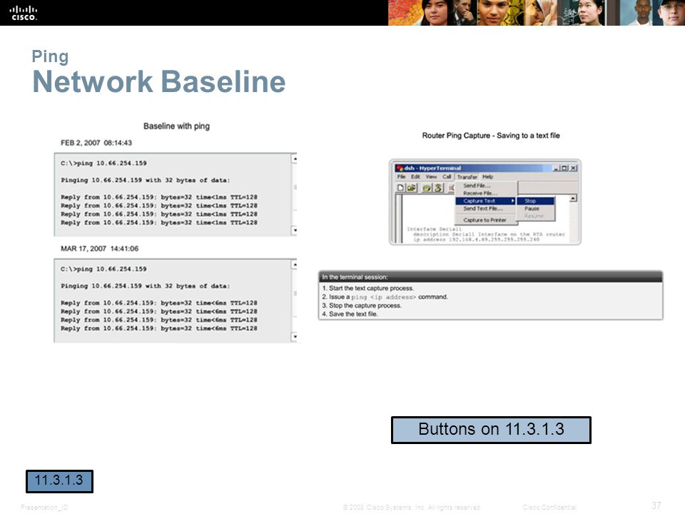 Ping Network Baseline Buttons on 11.3.1.3 11.3.1.3