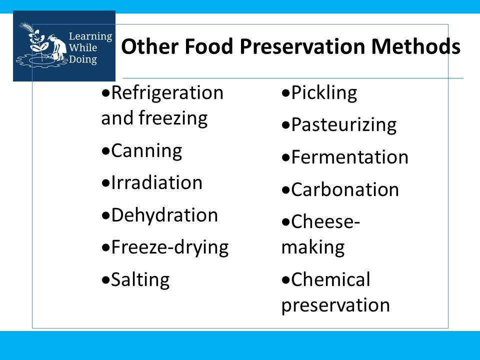 Other Food Preservation Methods