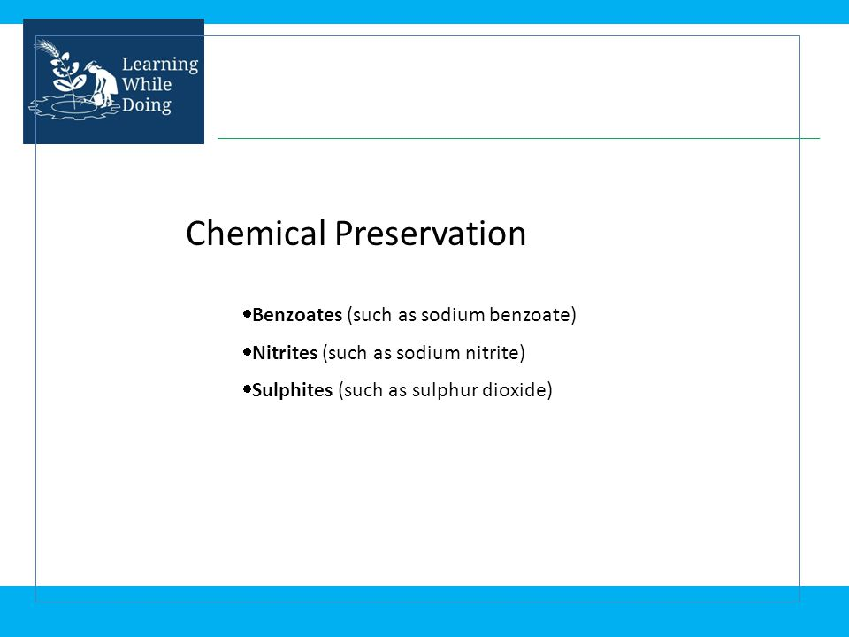 Chemical Preservation