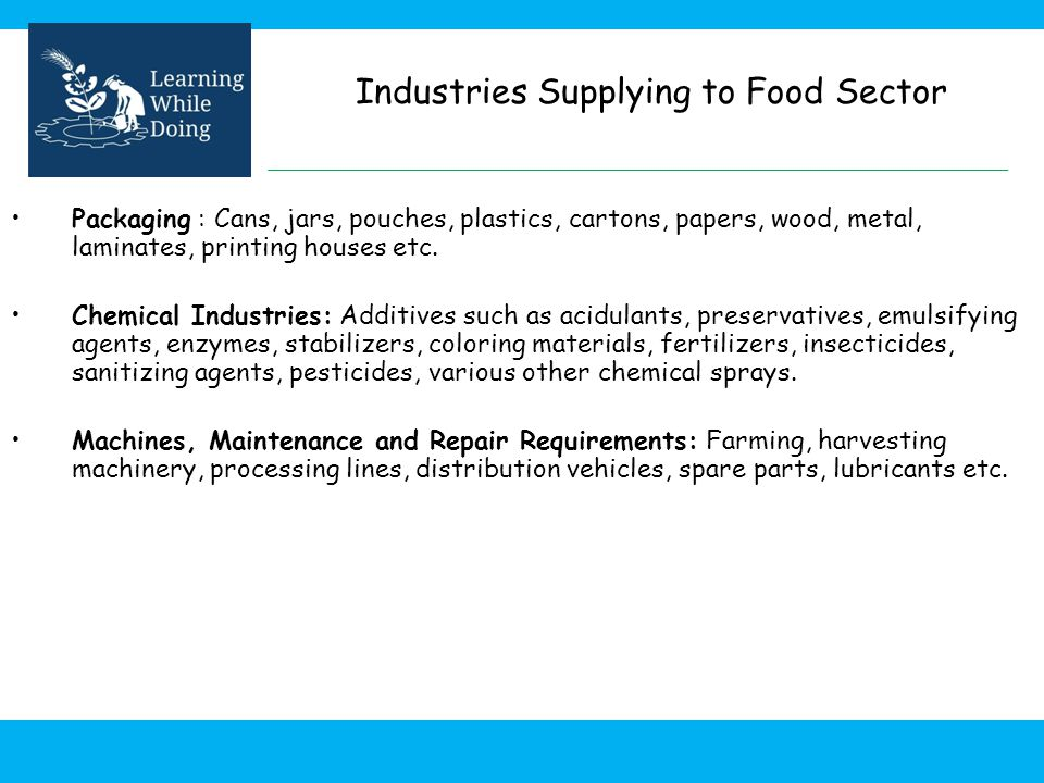 Industries Supplying to Food Sector