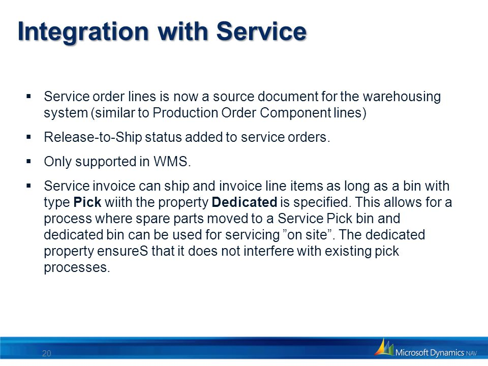 Integration with Service