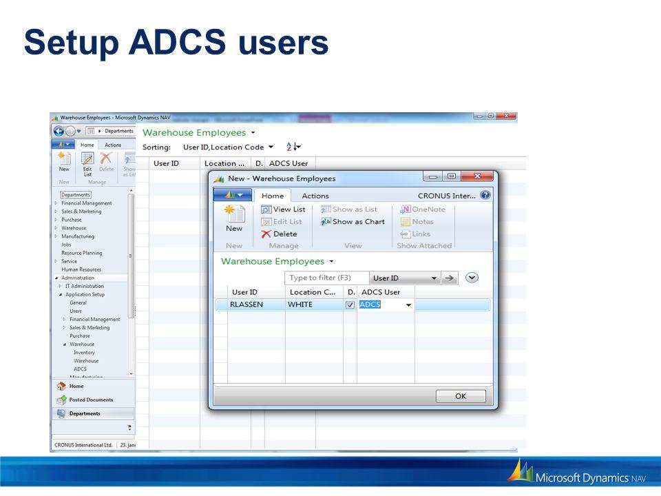 Setup ADCS users