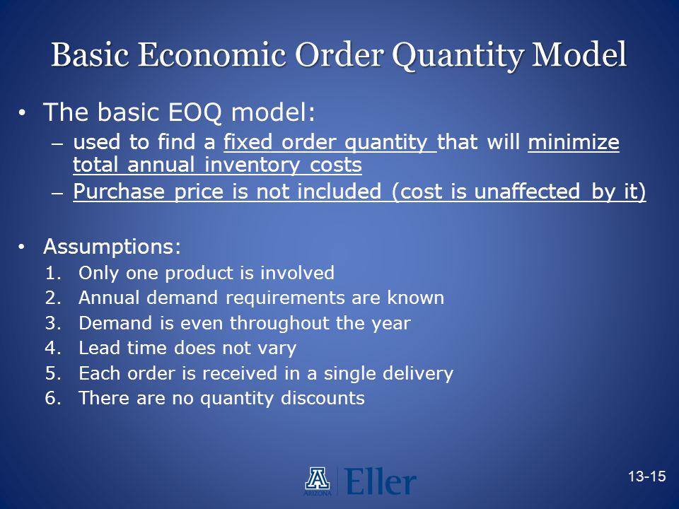 Basic Economic Order Quantity Model