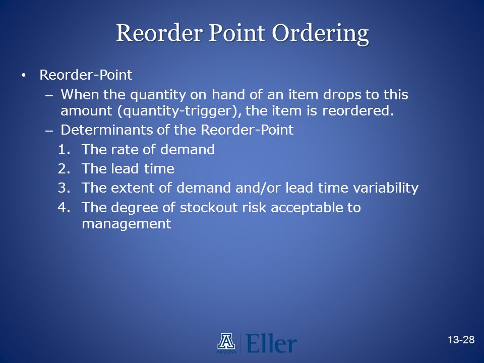 Reorder Point Ordering