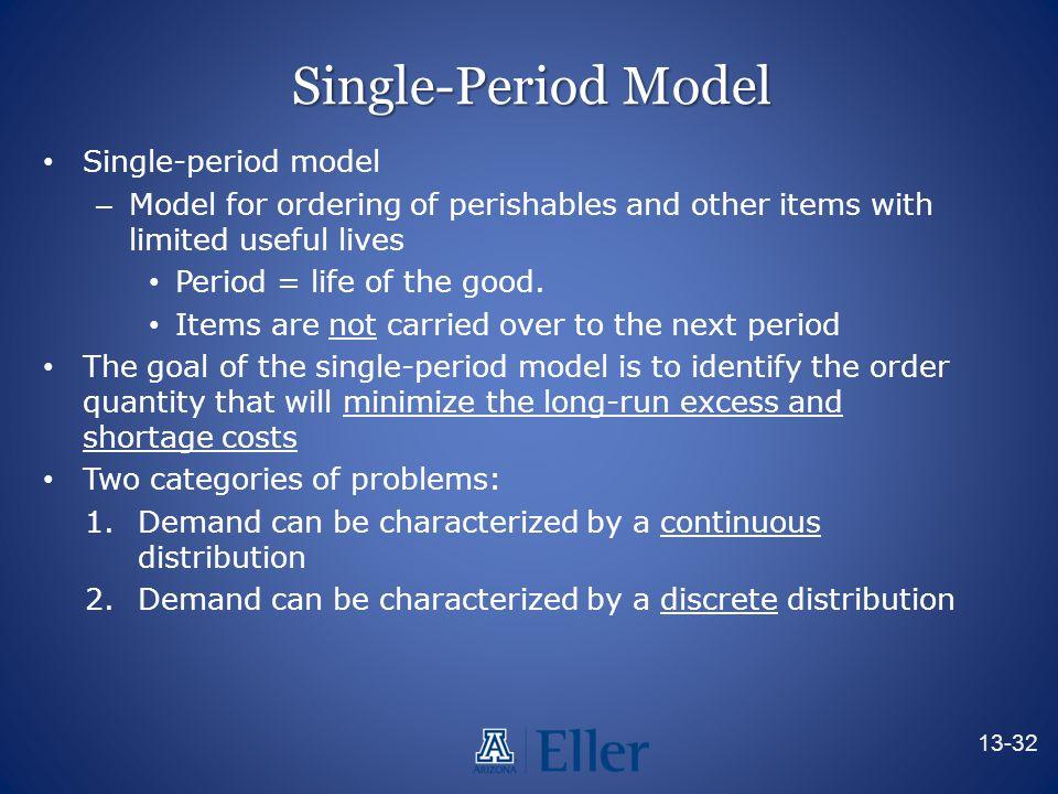 Single-Period Model Single-period model