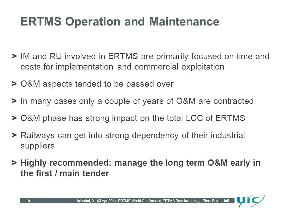 ERTMS Operation and Maintenance