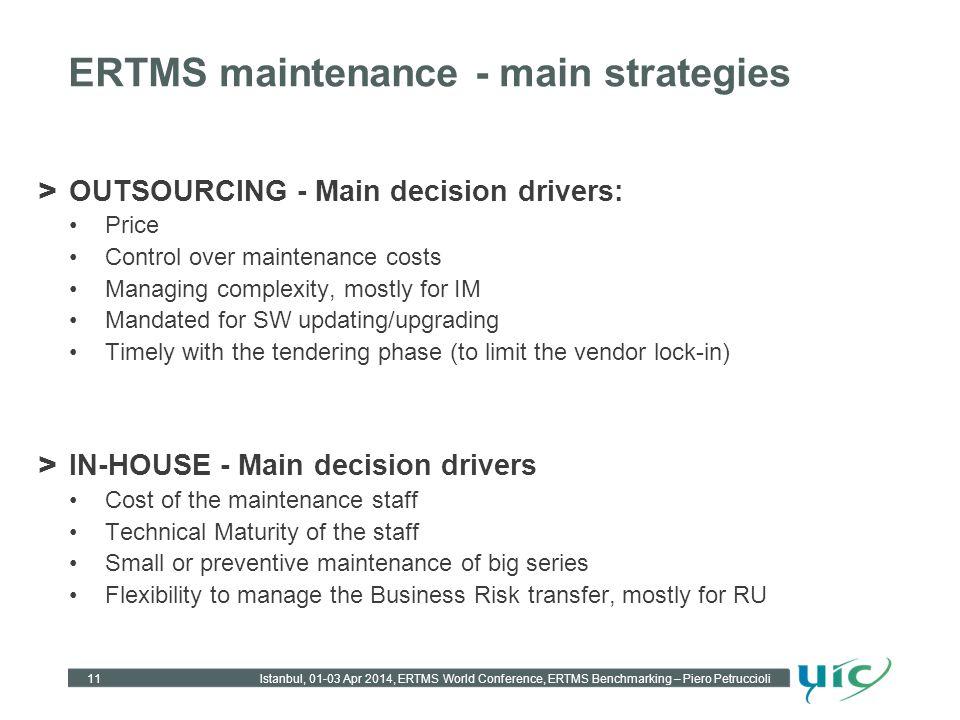 ERTMS maintenance - main strategies