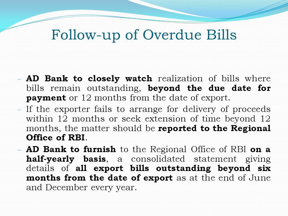 Follow-up of Overdue Bills