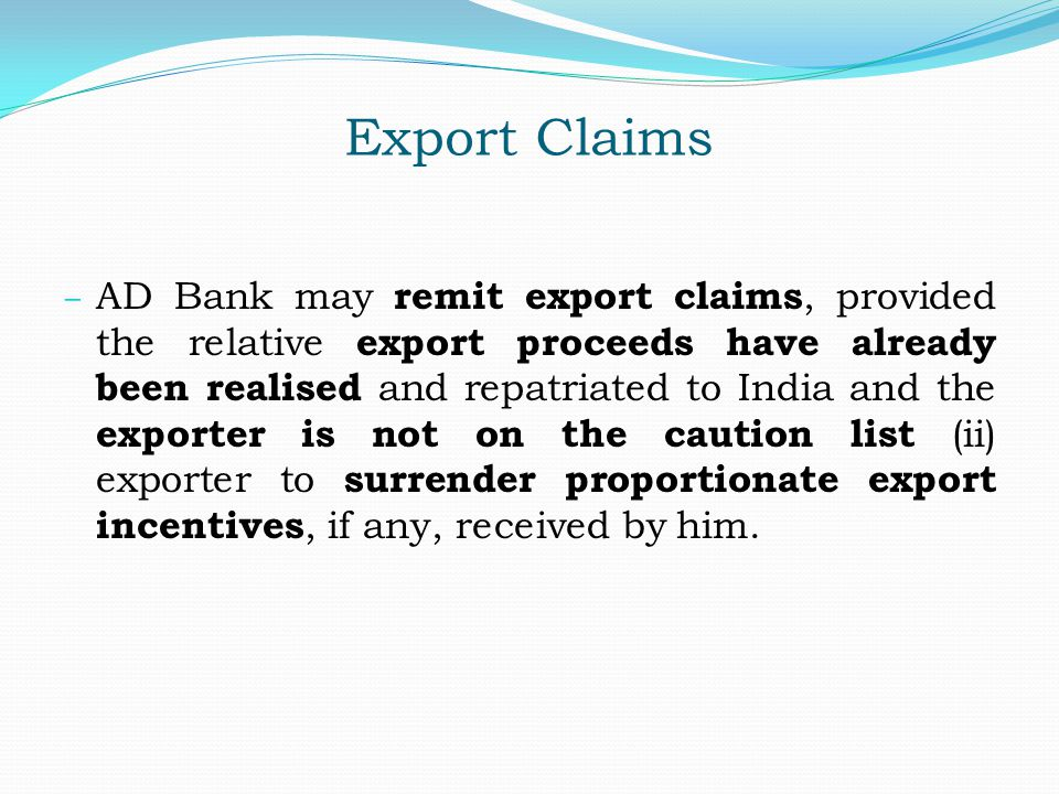 Export Claims
