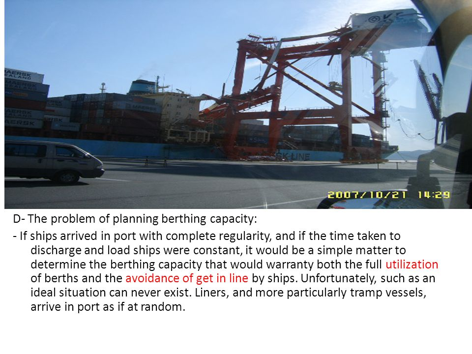 D- The problem of planning berthing capacity:
