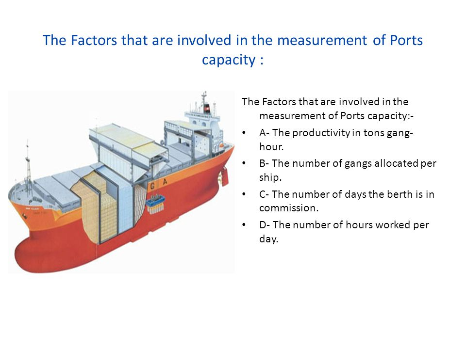 The Factors that are involved in the measurement of Ports capacity :
