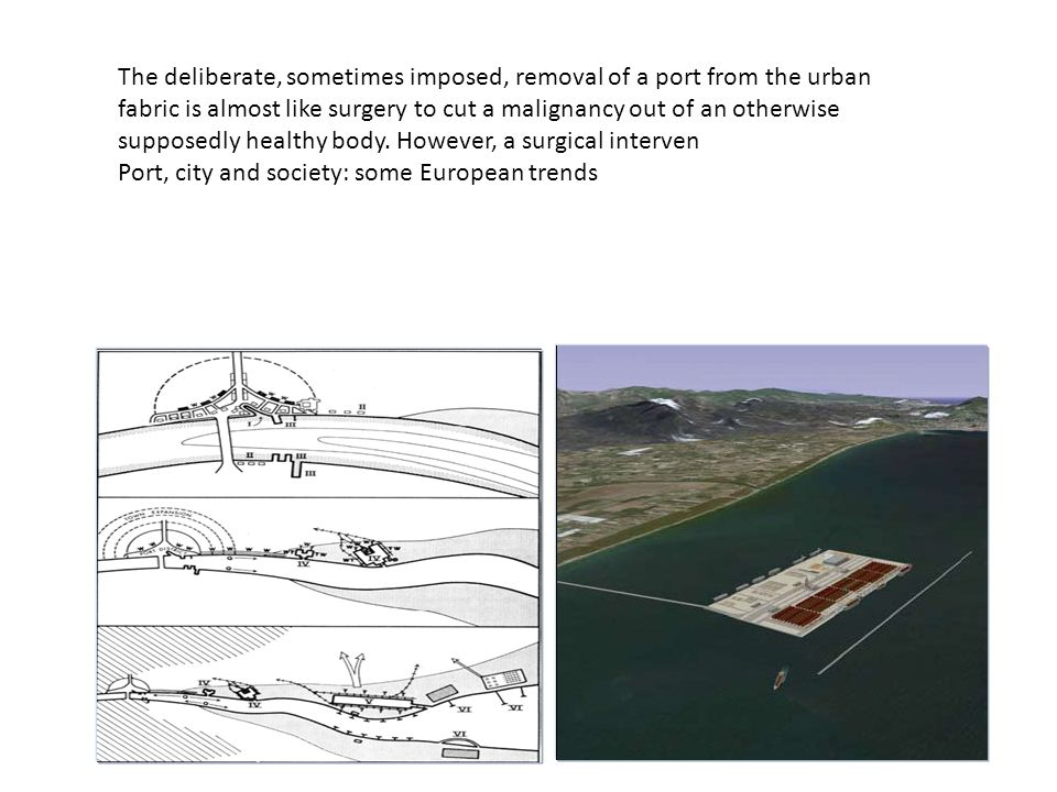 The deliberate, sometimes imposed, removal of a port from the urban fabric is almost like surgery to cut a malignancy out of an otherwise supposedly healthy body. However, a surgical interven