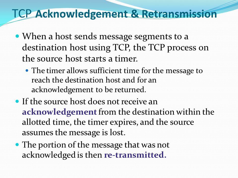 TCP Acknowledgement & Retransmission