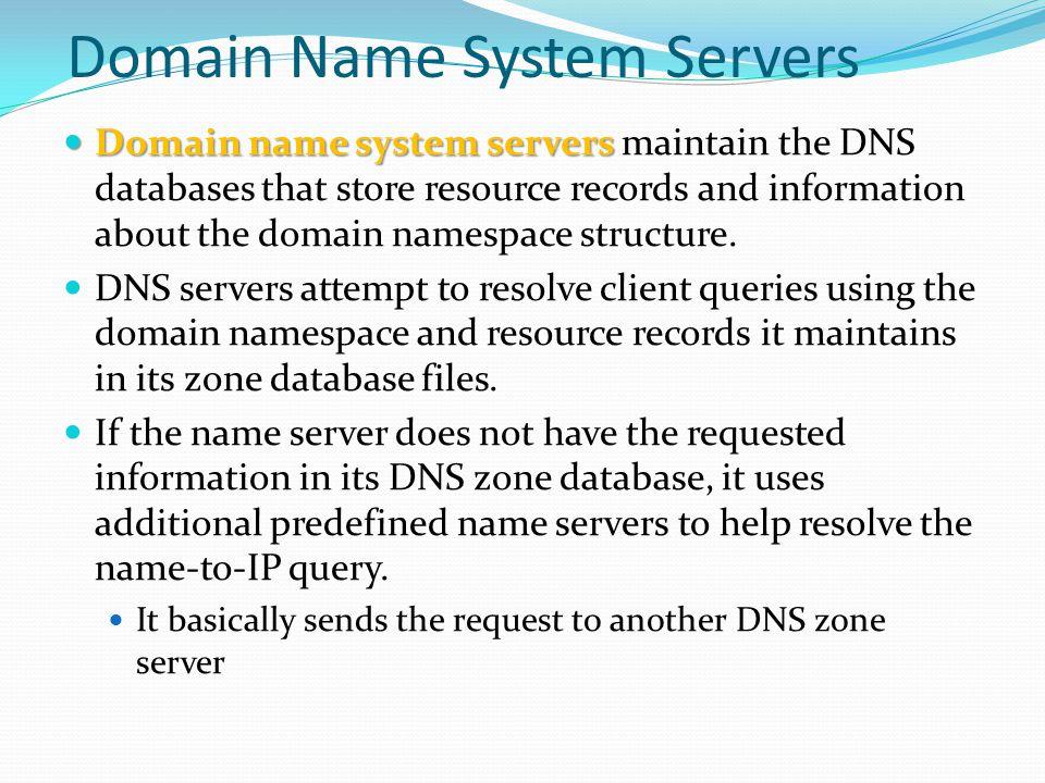 Domain Name System Servers
