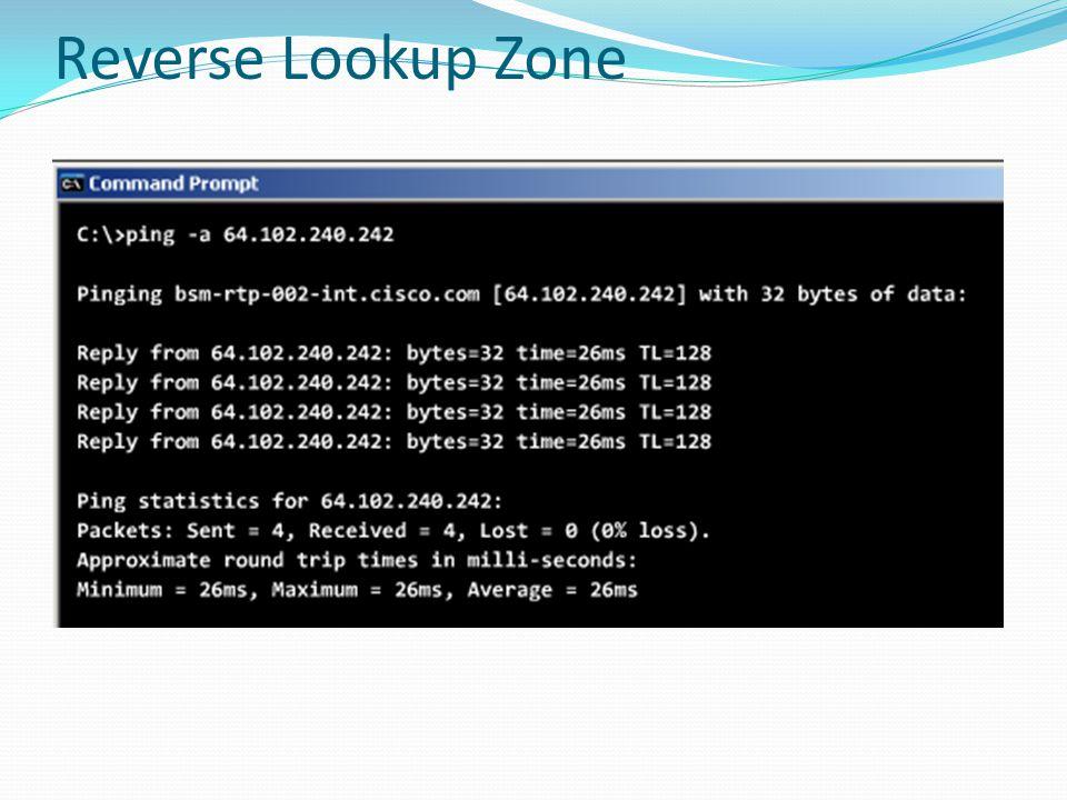 Reverse Lookup Zone
