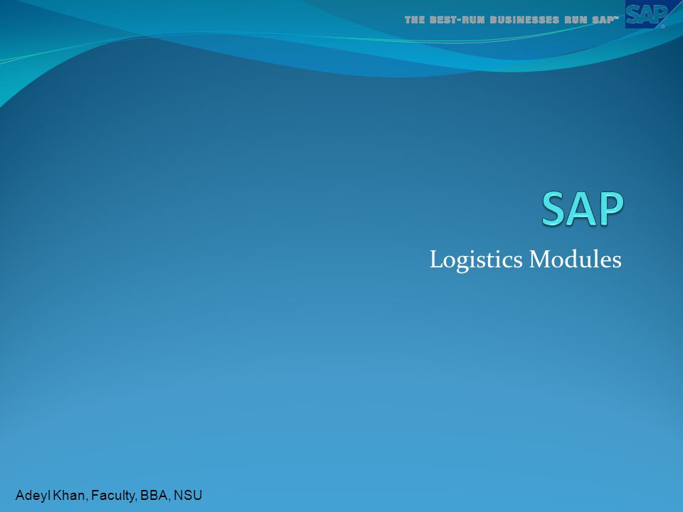 SAP Logistics Modules 1