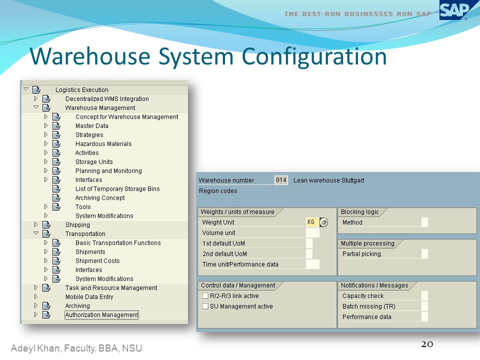 Warehouse System Configuration