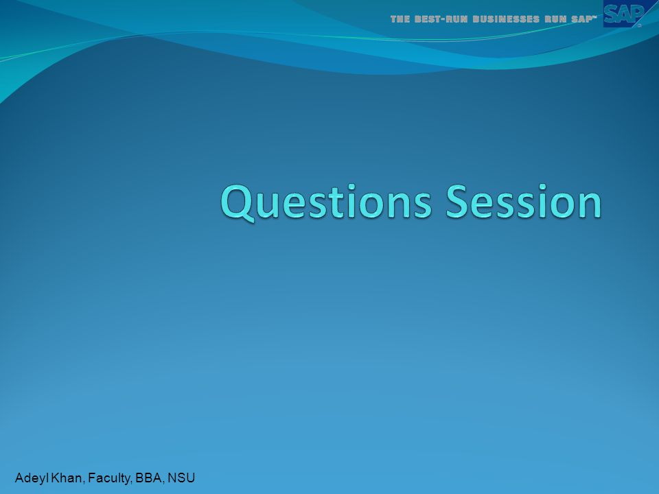 Questions Session
