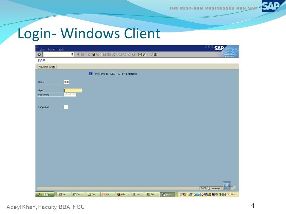 Login- Windows Client