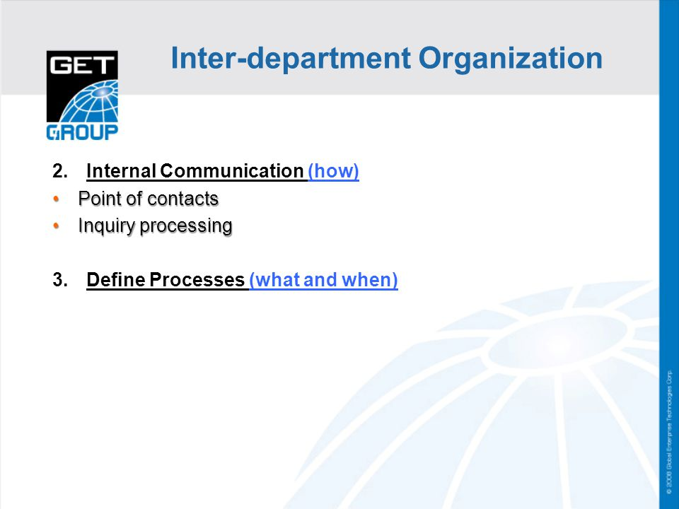 Inter-department Organization