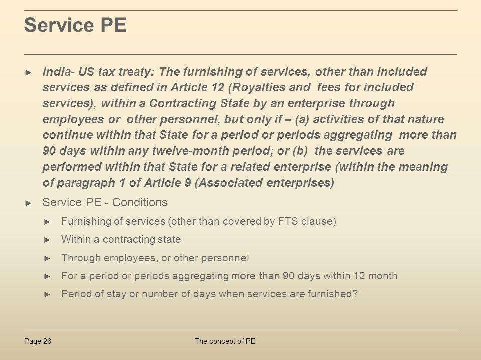 Service PE