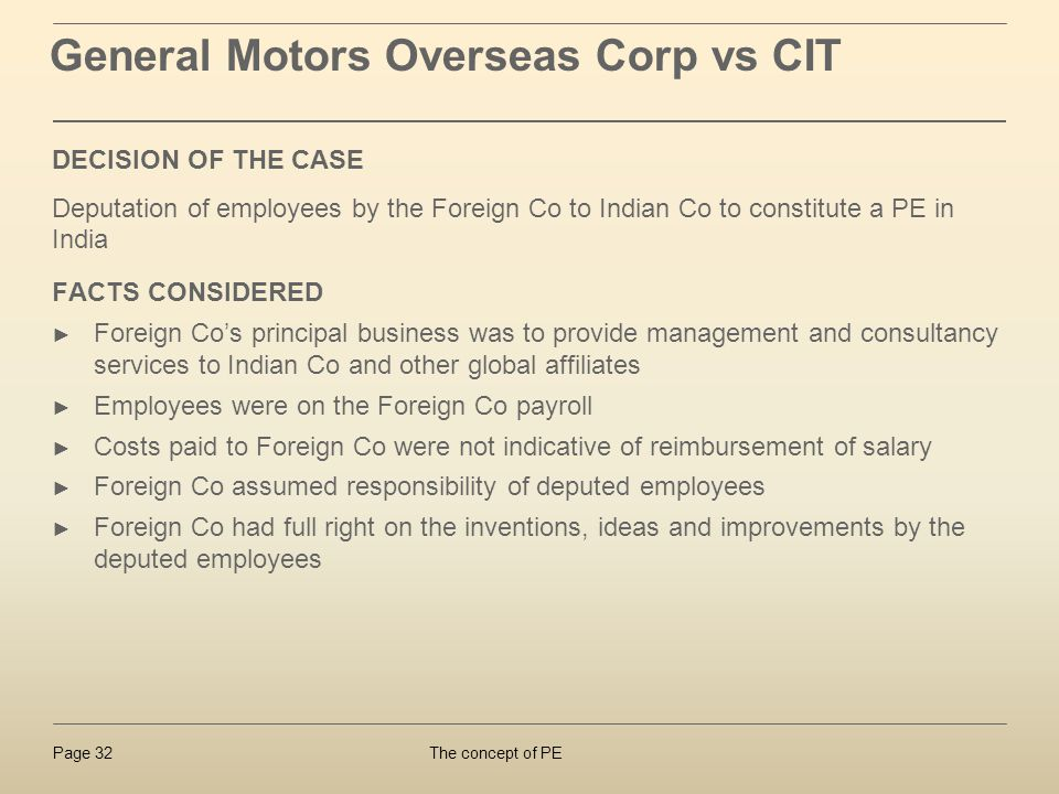General Motors Overseas Corp vs CIT