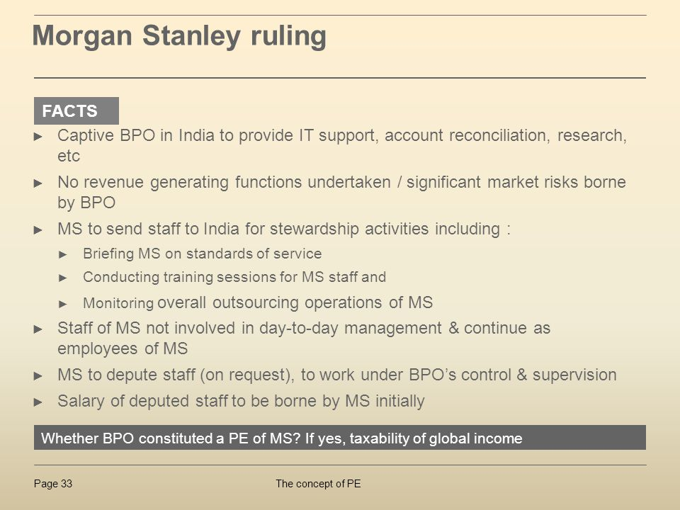 Morgan Stanley ruling FACTS