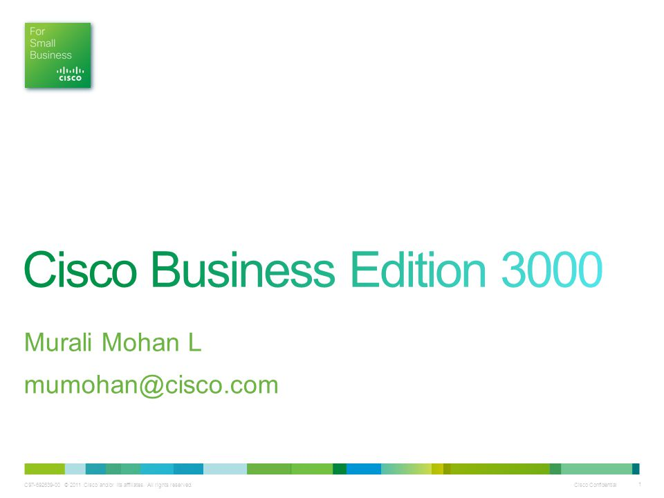 Cisco Business Edition 3000