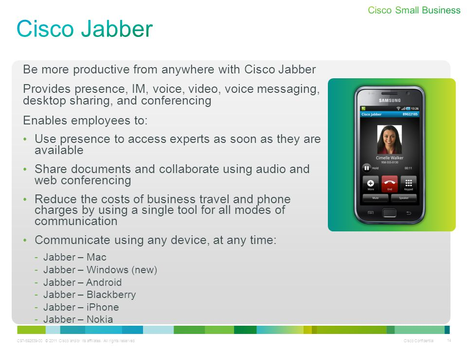 Cisco Jabber Be more productive from anywhere with Cisco Jabber