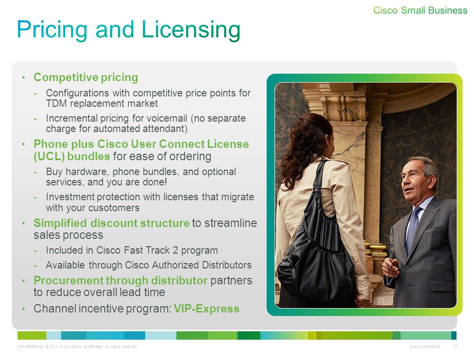 Pricing and Licensing Competitive pricing