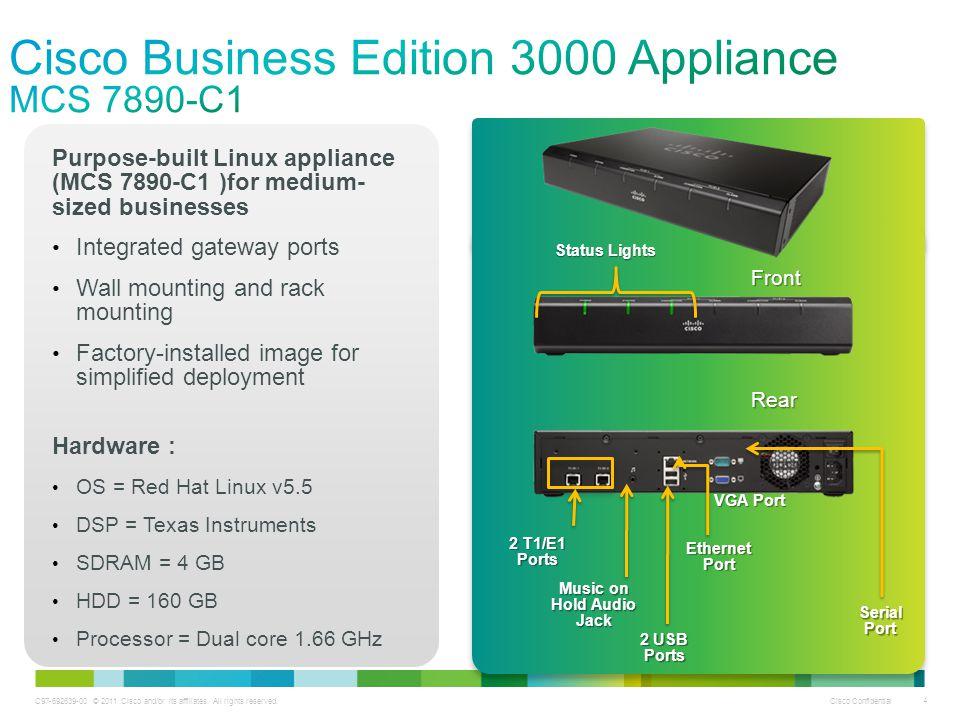 Cisco Business Edition 3000 Appliance MCS 7890-C1