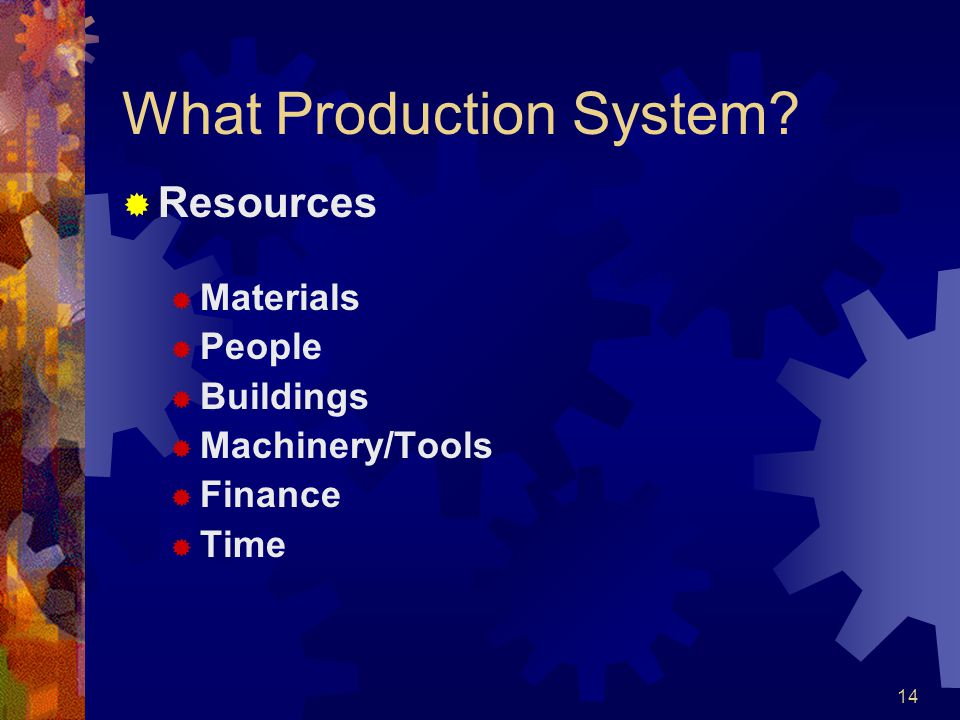 What Production System