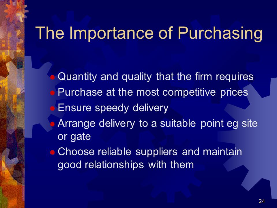 The Importance of Purchasing