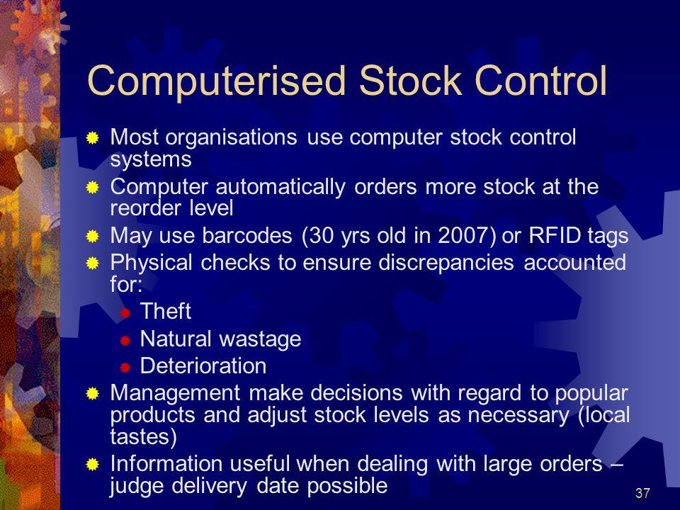 Computerised Stock Control